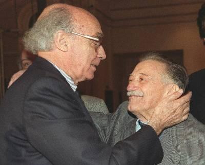 Saramago y Benedetti en 1999