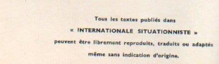 Nota de la Internacional Situcionista