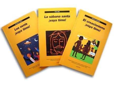 Fotografía de algunos de los libros de la colección