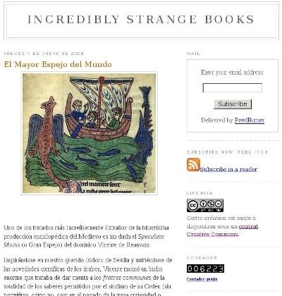 captura de pantalla: incredible strange books