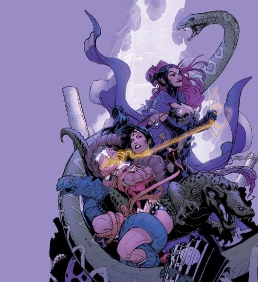 Circe y Wonder Woman por Terry Dobson