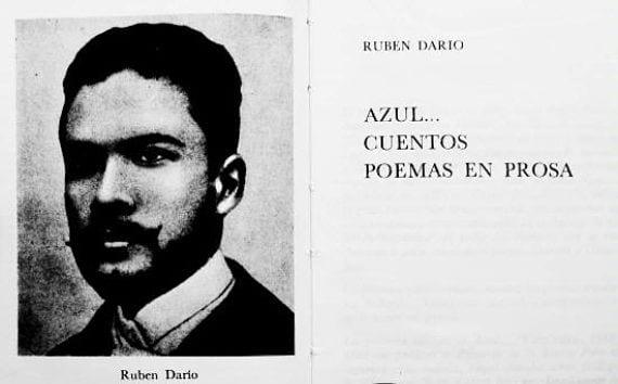Páginas del libro Azul de Ruben Darío