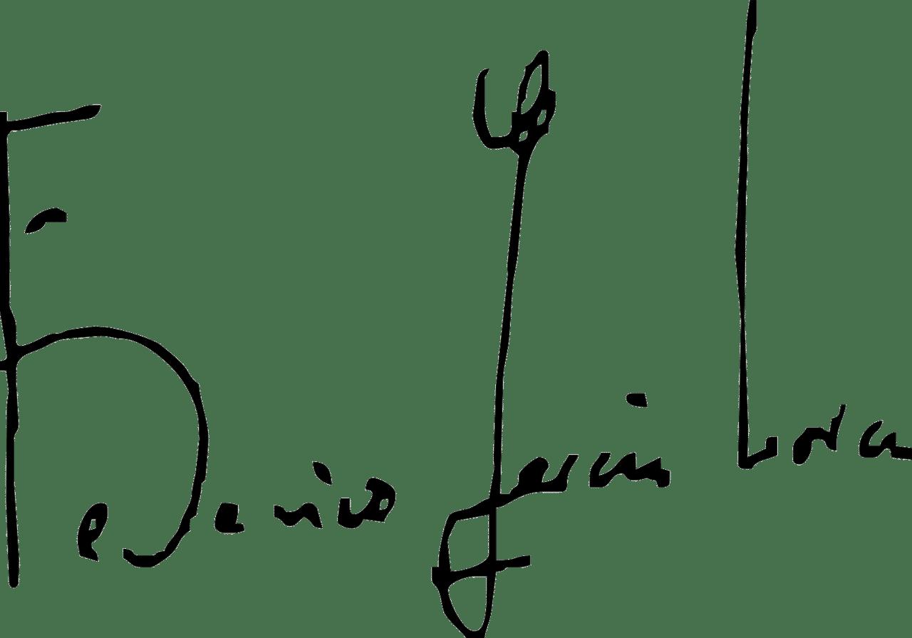 Firma de Federico García Lorca