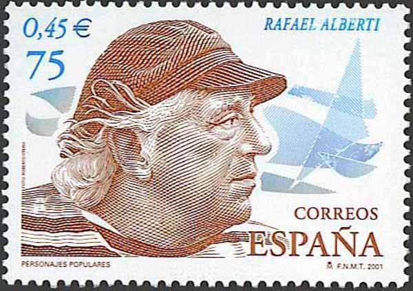 Sello homenaje a Rafael Alberti
