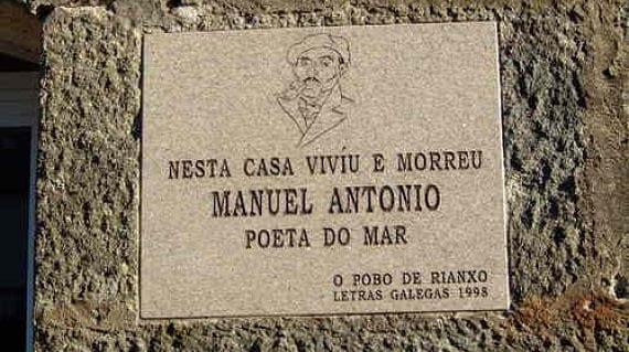 Placa dedicada al poeta Manuel Antonio