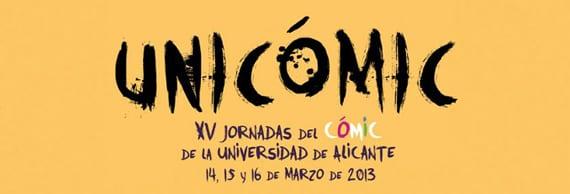 Del 14 al 16 de marzo an a tener lugar en la Universidad de Alicante las XV Jornadas del Cómic, más conocidas como Unicómic