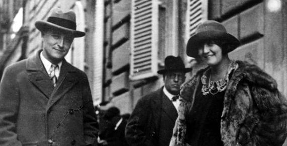 Fitzgerald y su esposa Zelda