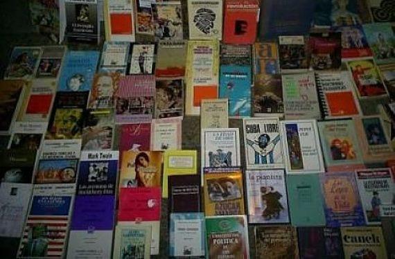 Libros viejos de una feria