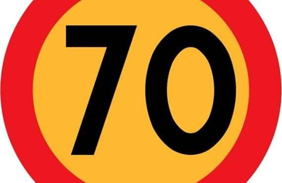 Señal 70 km/h