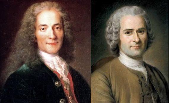 Rousseau y Voltaire