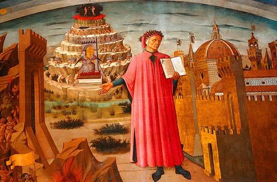 Dibujo de Dante Alighieri