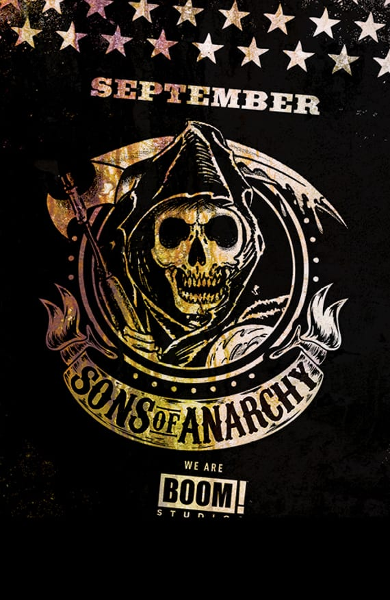 El guionista y escritor Christopher Golden será el encargado de adaptar Sons oof Anarchy para que la podamos disfrutar con el sello de BOOM! Studios.