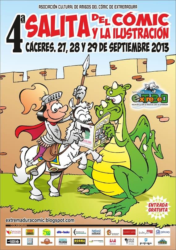 La Salita del Cómic y la Ilustración de Cáceres llega a su cuarta edición, que se celebrará entre los días 23 y 29 de septiembre.