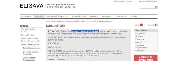 ELISAVA propone el Postgrado de Ilustración y Cómic en Barcelona.