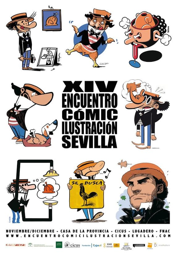 El XIV Encuentro Cómic de la Ilustración de Sevilla ya tiene cartel y fechas.