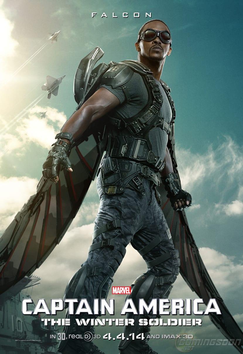 Ya hay póster de Halcón, el compañero de Capitán América.