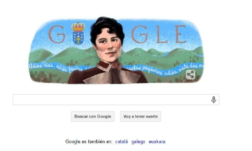 Doodle Rosalía de Castro