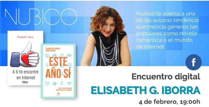 Encuentro digital con Elisabeth G. Iborra el 4 de febrero, organizado por Nubico