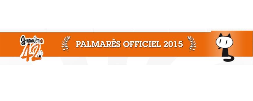 Palmarés de Angulema 2015.