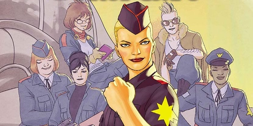 David López dibuja Captain Marvel and The Carol Corps.