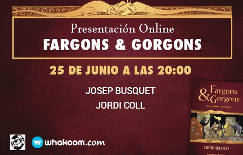 Presentación en Whakoom de Fargons & Gorgons.
