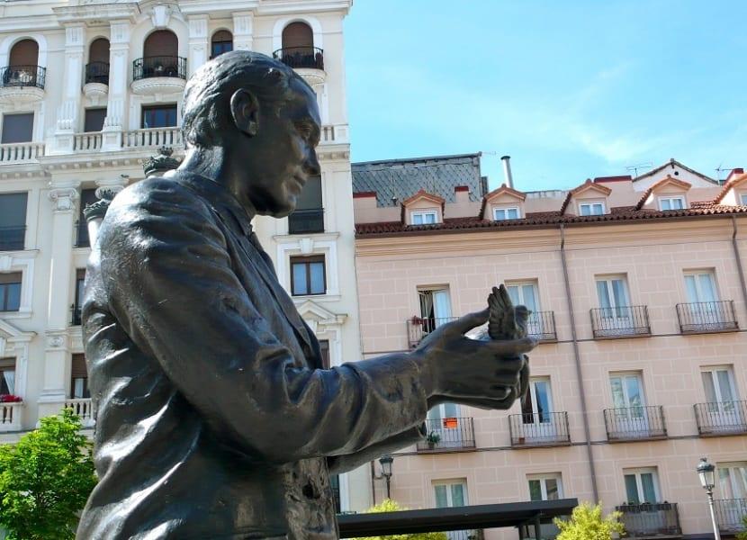 Monumento a Federico García Lorca en Madrid