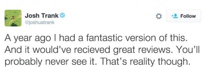 Josh Trank se desmarca de la versión final de Fantastic Four.