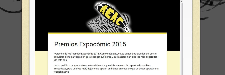 Votación Premios Expocomic 2015.
