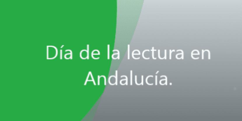 Portada Día de la lectura en Andalucía