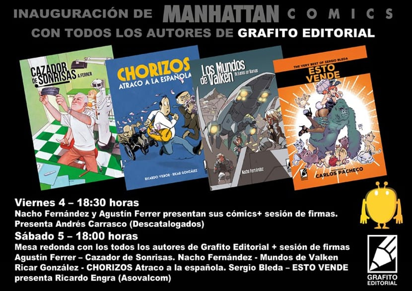 Grafito Editorial al completo en Manhattan Comics.
