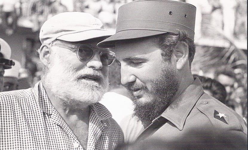 E. hemingway con Fidel Castro