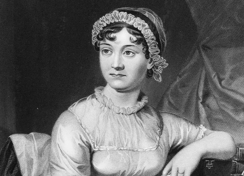 English novelist Jane Austen, shown here in an original family portrait, was born in December 1775.