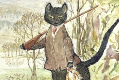 Dibujo de La Gata con botas