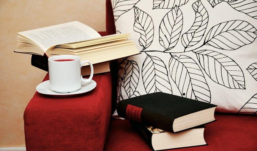 Silla con libros