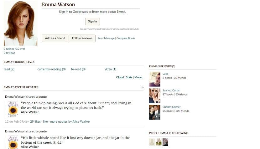 El club de lectura de Emma Watson