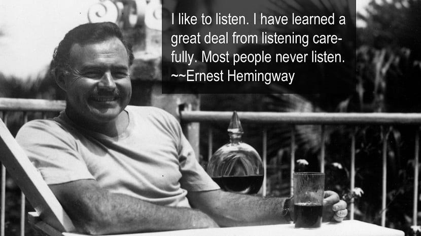 20 frases célebres de Ernest Hemingway
