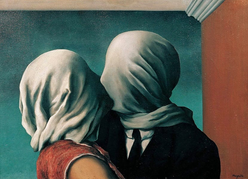 Los 5 mejores poemas de amor - El beso - René Magritte