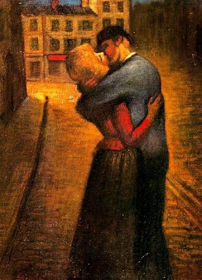 Los 5 mejores poemas de amor - El beso - Théophile Alexander Steilen