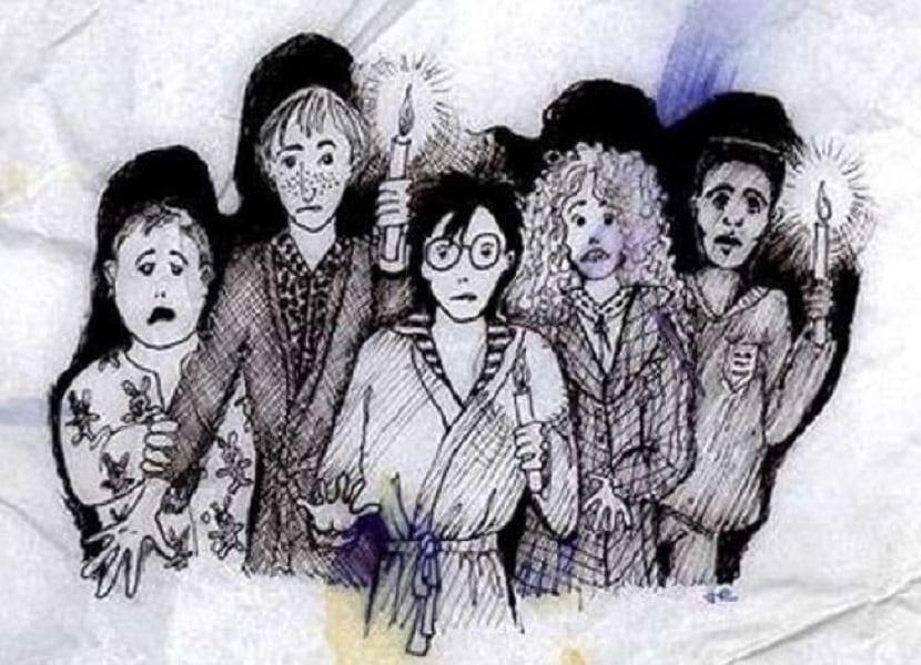 Así imaginaba J.K Rowling a los personajes de Harry Potter