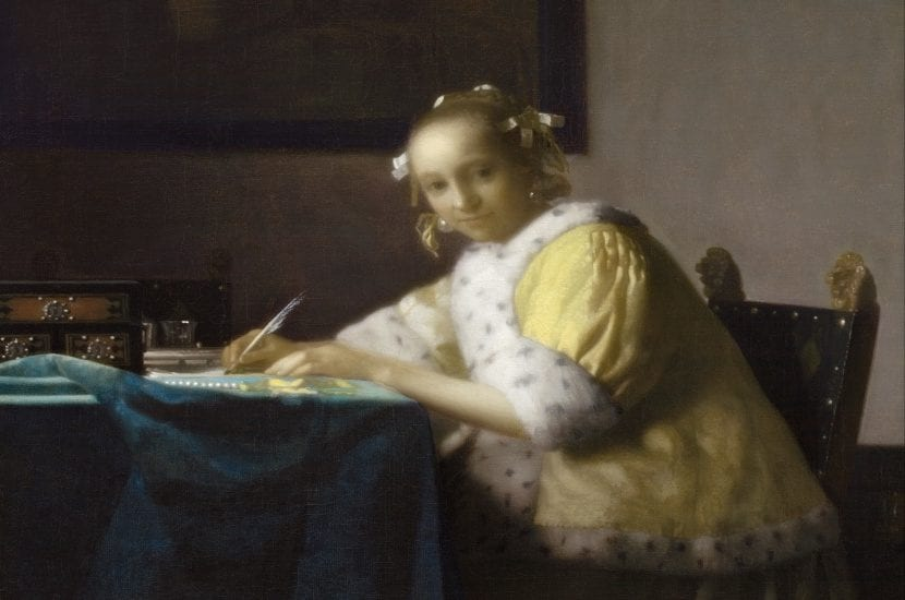 A lady writing - Johannes Vermeer