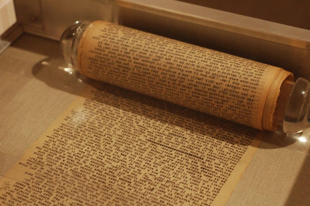 """""""El Rollo"""" original en el que Jack Kerouac escribió En el camino. ⒸSteve Rhodes."""