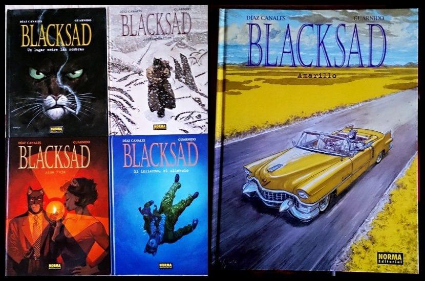 Mis álbumes de Blacksad.