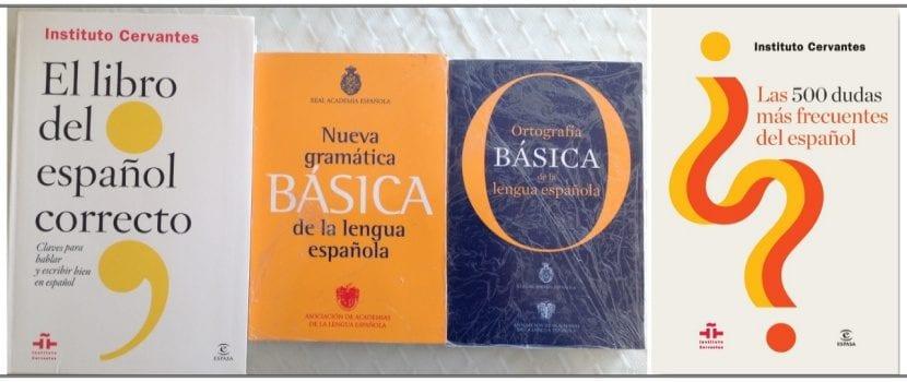 Algunos manuales imprescindibles de lengua española.