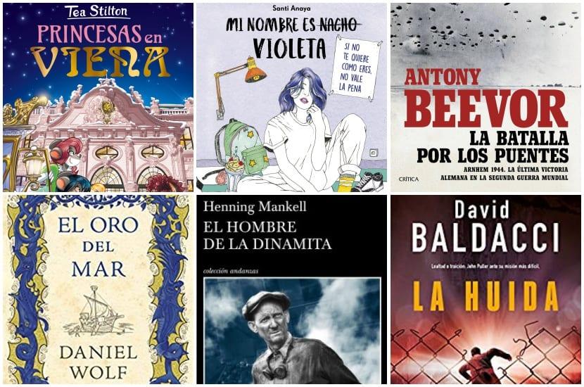 Septiembre. 6 novedades literarias de varios géneros.