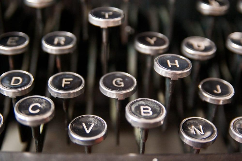 Teclas máquina de escribir