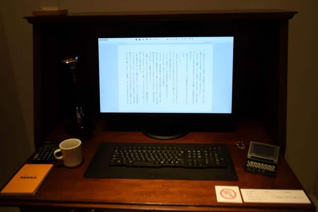 Mesa de un escritor japonés.