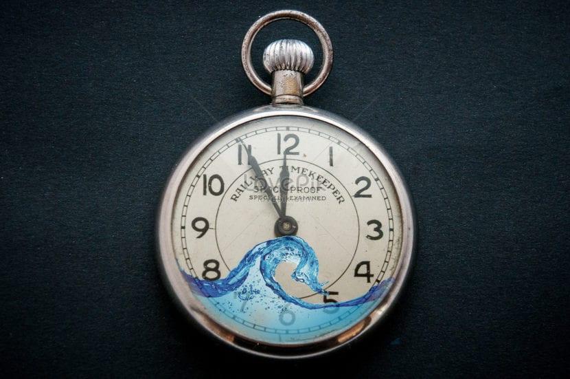 Reloj con agua