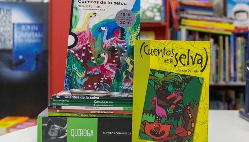 Foto de un libro de Cuentos de la selva.