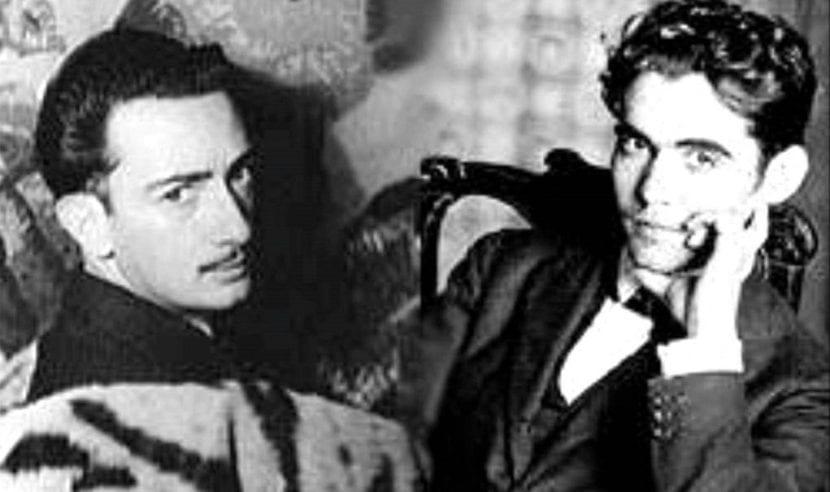 Foto de Salvador Dalí y Federico García Lorca.
