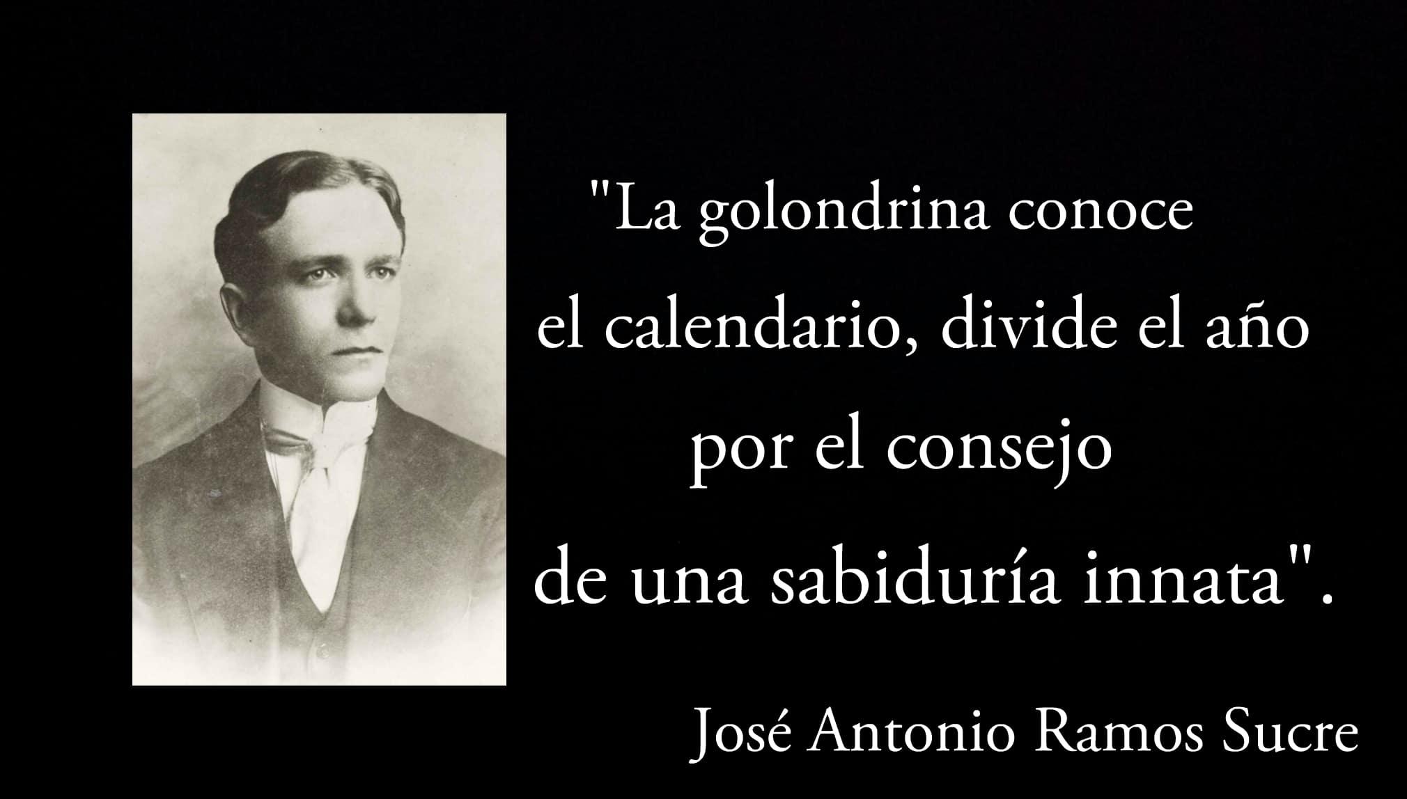 Frase de un poema de José Antonio Ramos Sucre.
